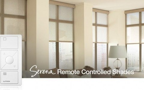 Add stylish automatic blinds with Serena Roller shades from Lutron