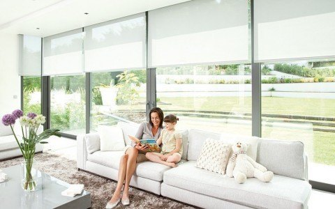 Somfy blinds let you control your lighting and blinds together