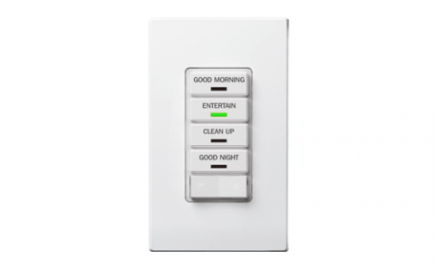 Instantly switch up the mood with a Leviton scene control wall switch