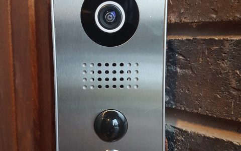 The Doorbird D101 intercom lets you answer the door from anywhere and includes 24/7 camera access, doorbell and door access support.